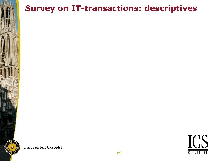 Survey on IT-transactions: descriptives Future 64