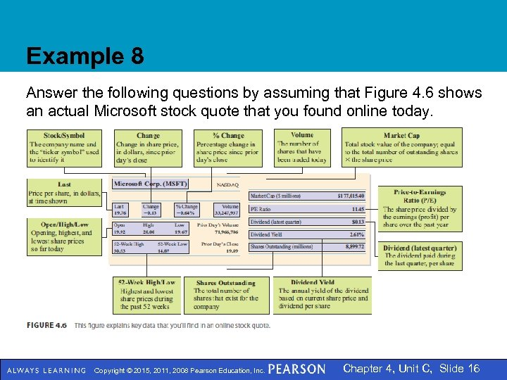 Example 8 Answer the following questions by assuming that Figure 4. 6 shows an