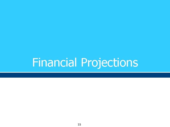 Financial Projections 33