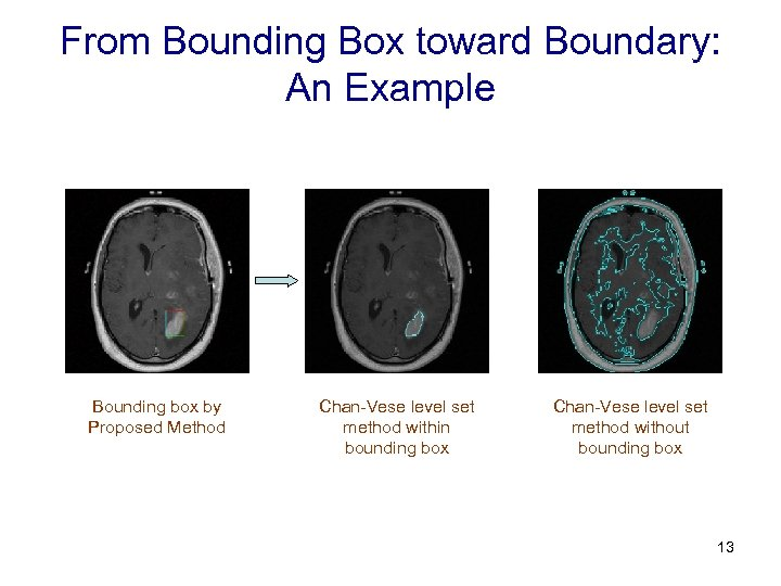 From Bounding Box toward Boundary: An Example Bounding box by Proposed Method Chan-Vese level