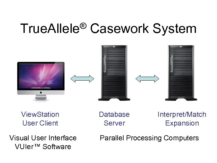 True. Allele® Casework System View. Station User Client Visual User Interface VUIer™ Software Database