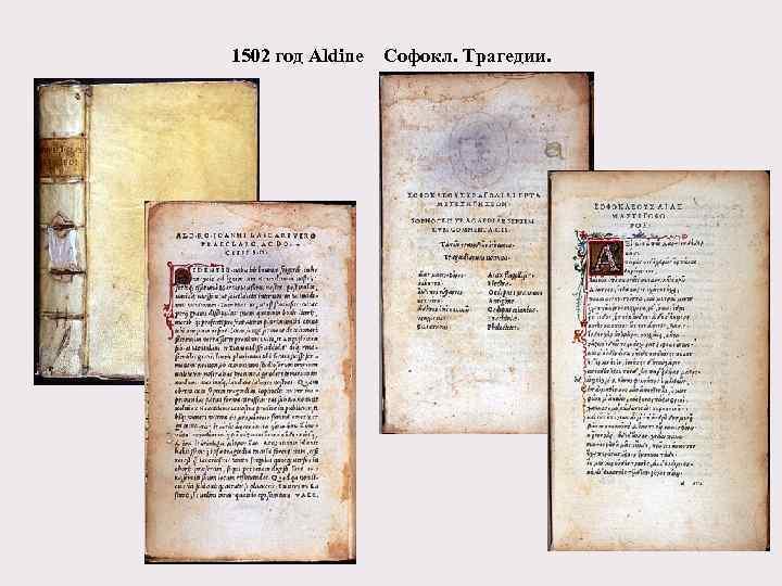 1502 год Aldine Софокл. Трагедии.