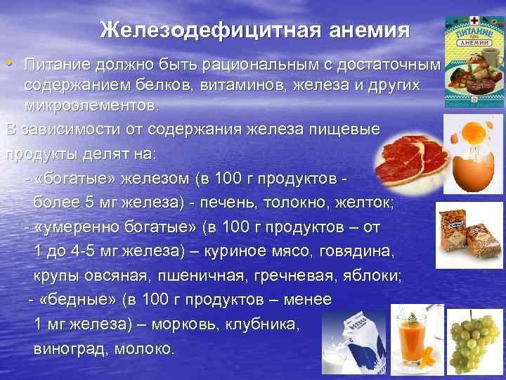 Диета при легкой анемии