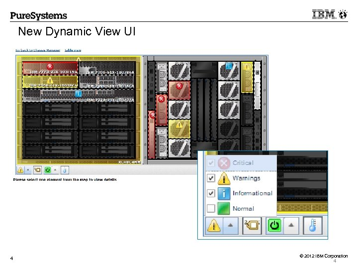 New Dynamic View UI 4 © 2012 IBM Corporation 4