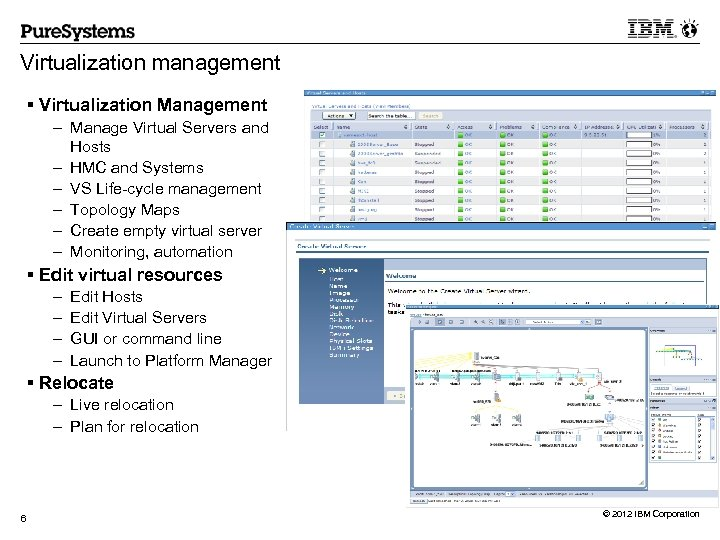 Virtualization management § Virtualization Management – Manage Virtual Servers and Hosts – HMC and