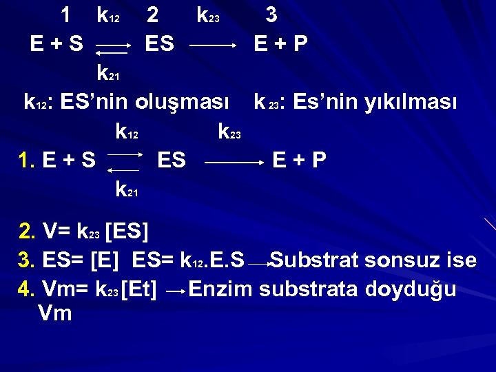 1 k 12 2 k 23 3 E+S ES E+P k 21 k 12: