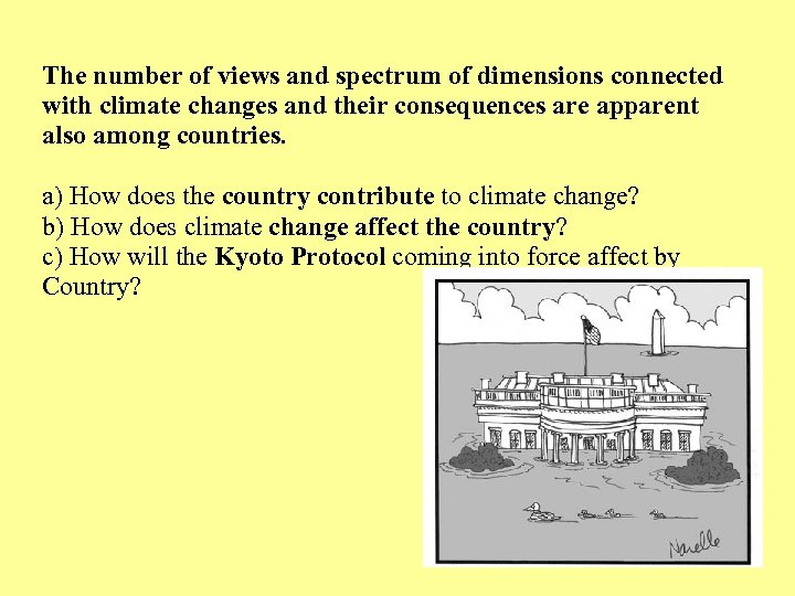 The number of views and spectrum of dimensions connected with climate changes and their