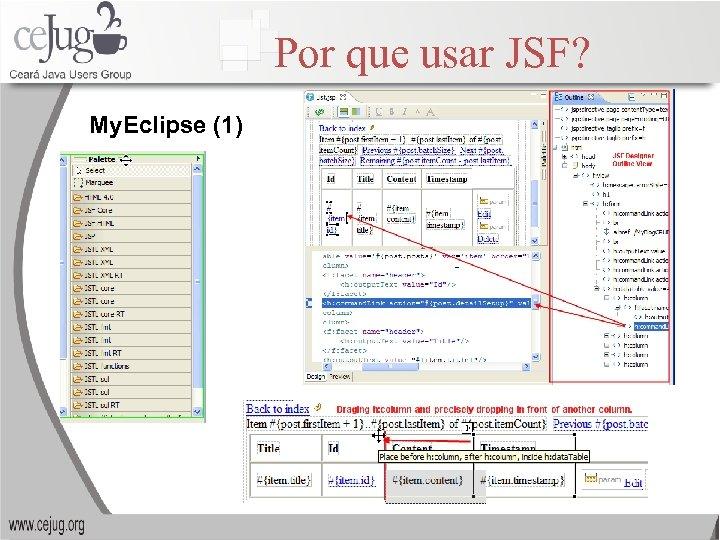 Por que usar JSF? My. Eclipse (1)
