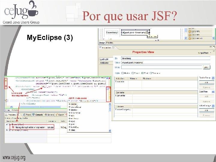 Por que usar JSF? My. Eclipse (3)