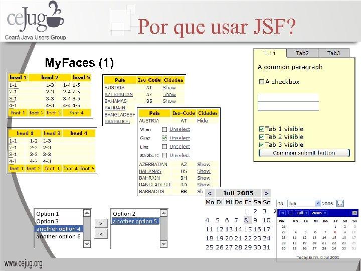 Por que usar JSF? My. Faces (1)