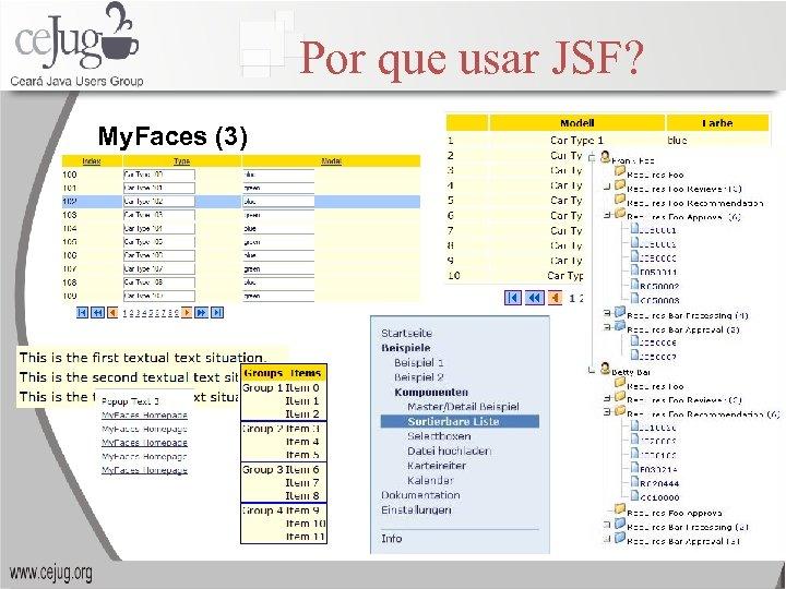 Por que usar JSF? My. Faces (3)