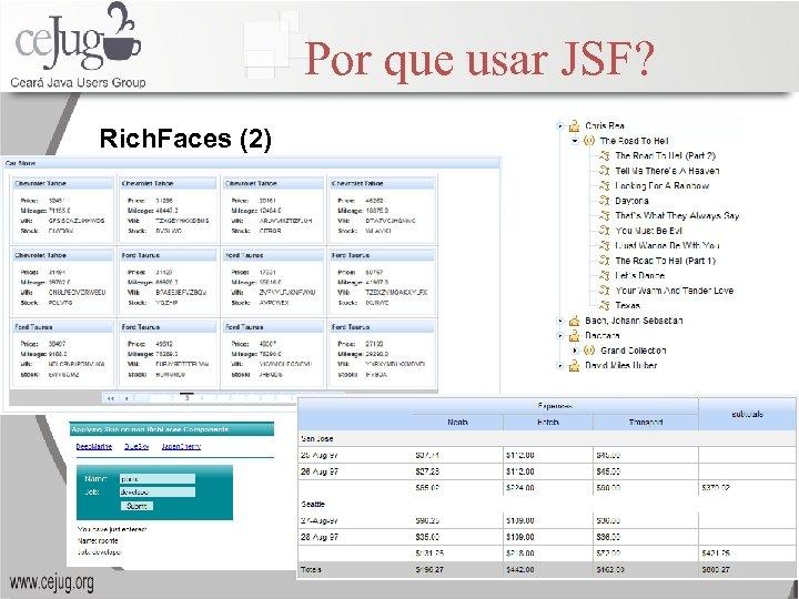 Por que usar JSF? Rich. Faces (2)