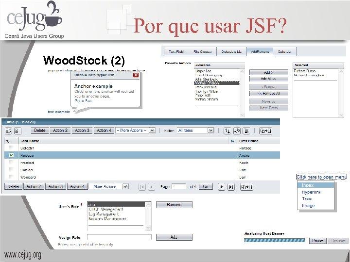 Por que usar JSF? Wood. Stock (2)