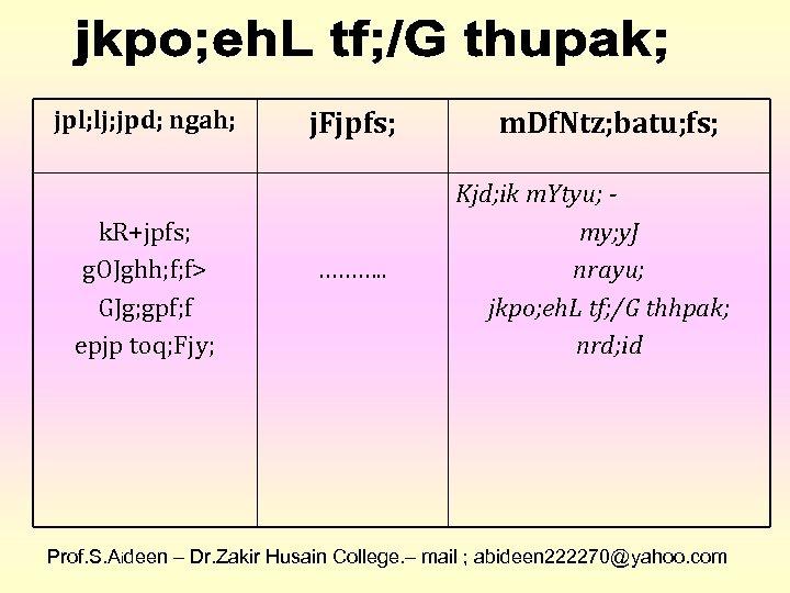 jpl; lj; jpd; ngah; k. R+jpfs; g. OJghh; f; f> GJg; gpf; f epjp