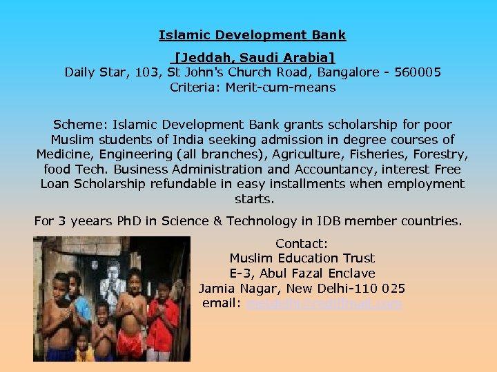 Islamic Development Bank [Jeddah, Saudi Arabia] Daily Star, 103, St John's Church Road, Bangalore