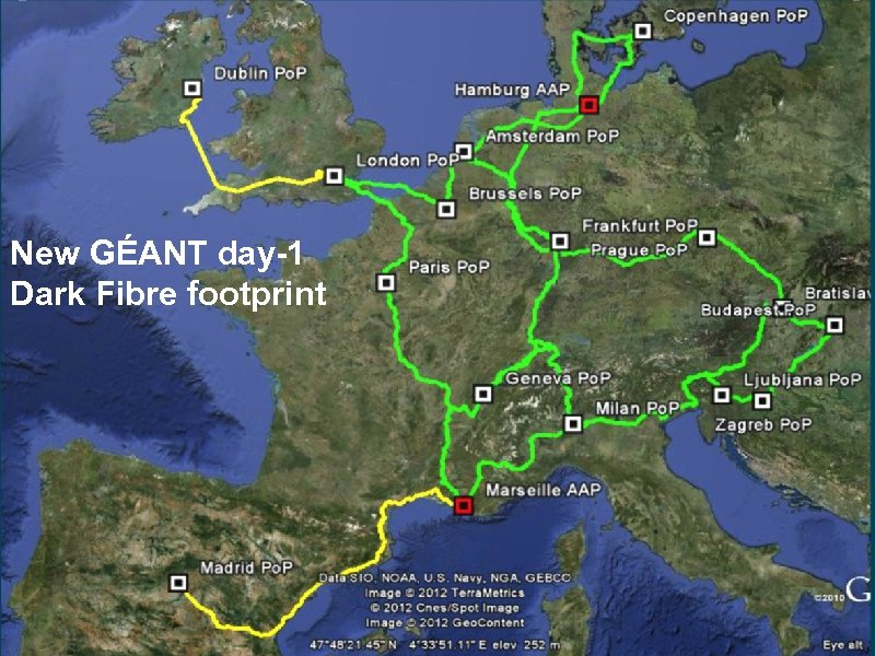 New GÉANT DF footprint New GÉANT day-1 Dark Fibre footprint 22 connect • communicate