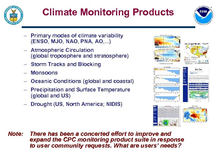 Climate Monitoring Products – Primary modes of climate variability (ENSO, MJO, NAO, PNA, AO,