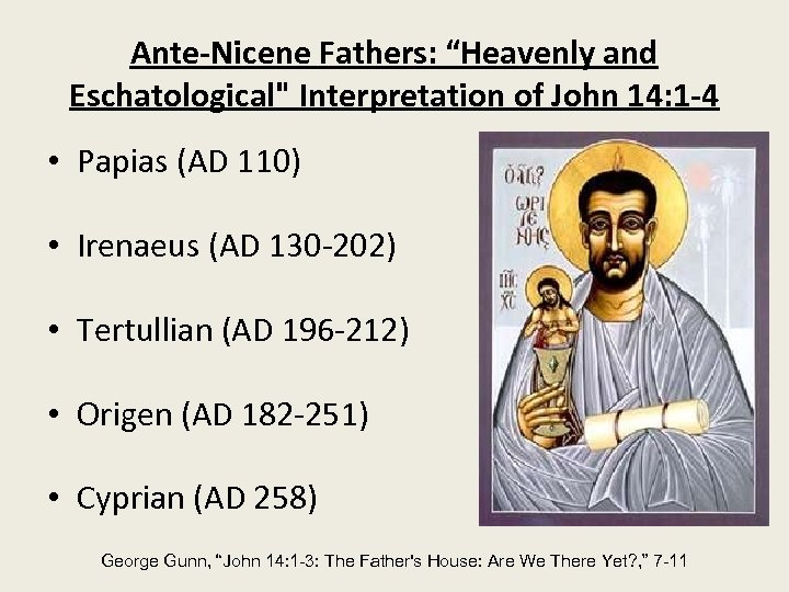 "Ante-Nicene Fathers: ""Heavenly and Eschatological"