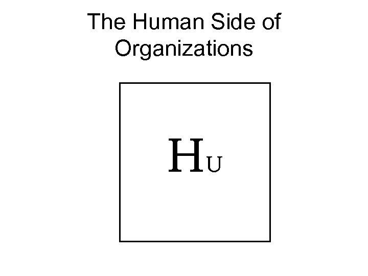 The Human Side of Organizations HU