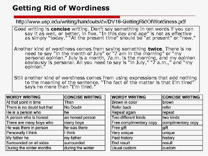 what is wordiness in writing