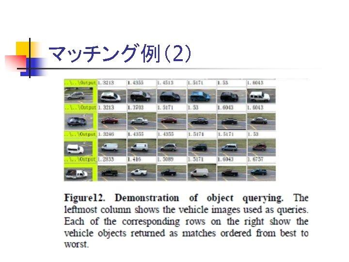 マッチング例(2)