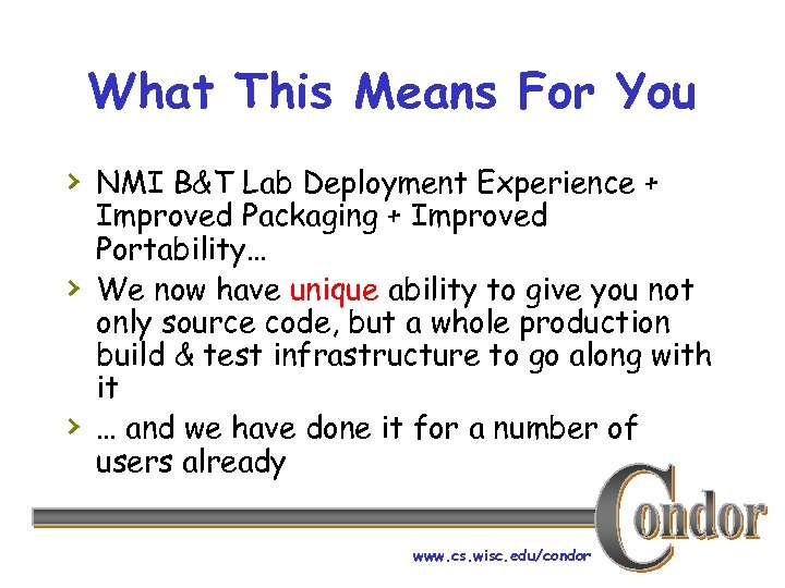 What This Means For You › NMI B&T Lab Deployment Experience + › ›