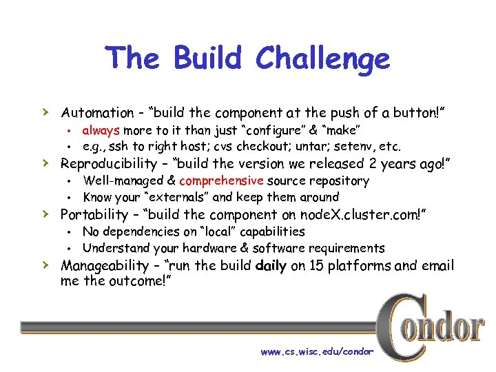 """The Build Challenge › Automation - """"build the component at the push of a"""