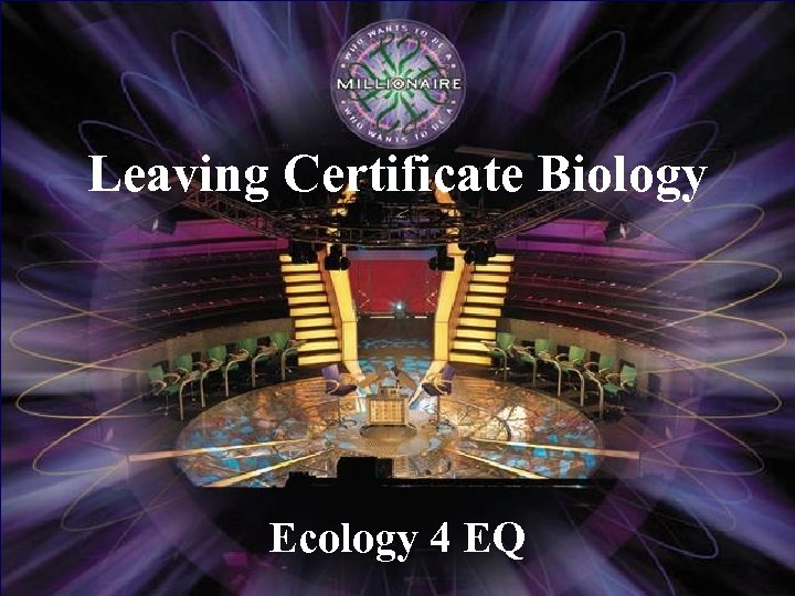 Leaving Certificate Biology Ecology 4 EQ