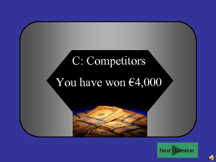 C: Competitors You have won € 4, 000 Next Question