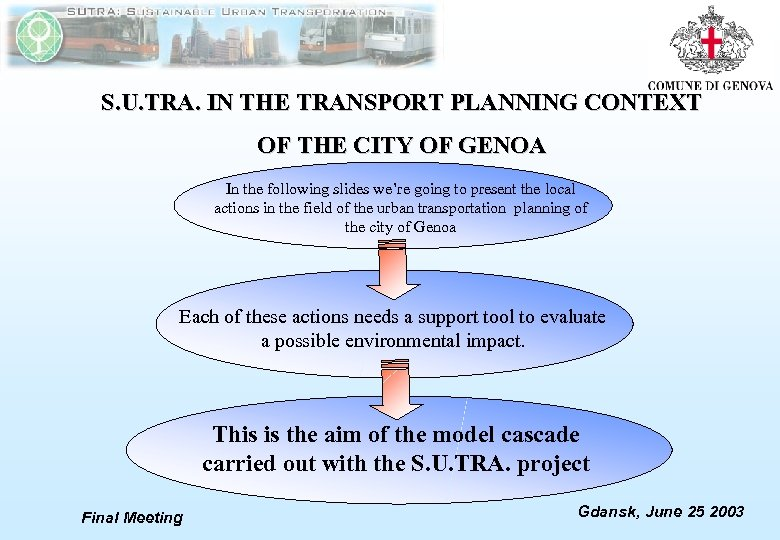 S. U. TRA. IN THE TRANSPORT PLANNING CONTEXT OF THE CITY OF GENOA In
