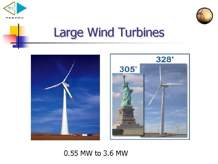 Large Wind Turbines 0. 55 MW to 3. 6 MW