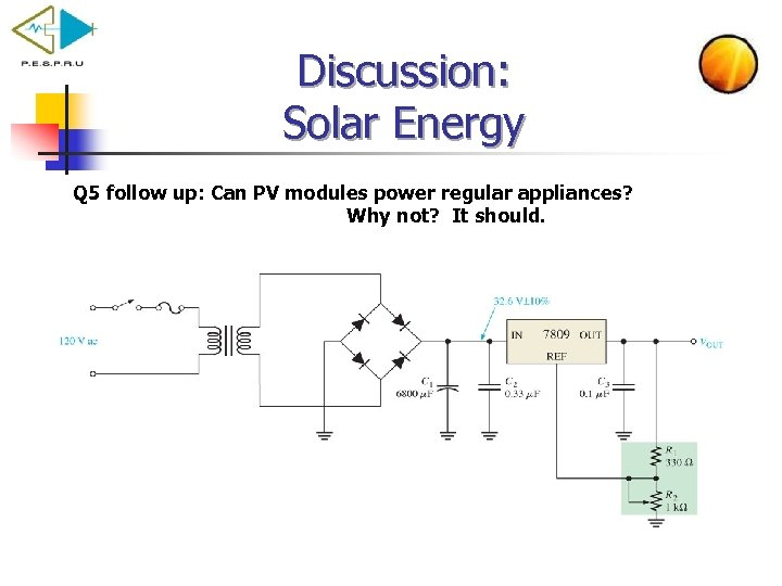 Discussion: Solar Energy Q 5 follow up: Can PV modules power regular appliances? Why