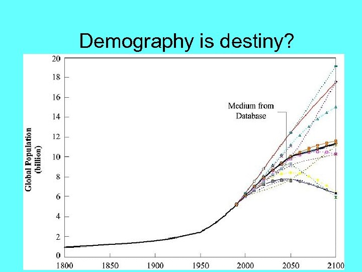 Demography is destiny?