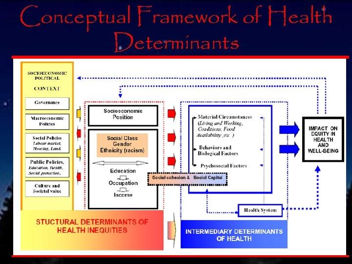 Conceptual Framework of Health Determinants 36