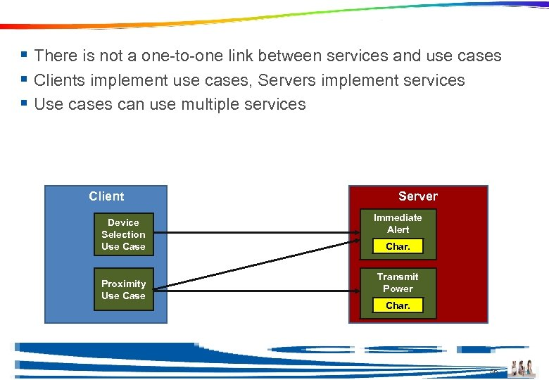 Use Cases and Services § There is not a one-to-one link between services and