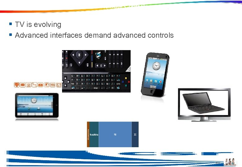 Ble in Consumer Electronics and Remote Controls § TV is evolving § Advanced interfaces