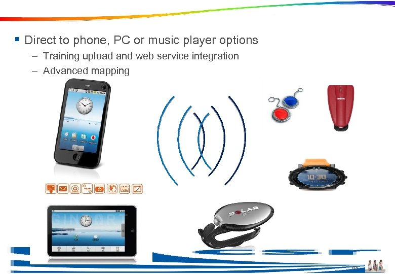 Ble in Sports and Fitness Products § Direct to phone, PC or music player