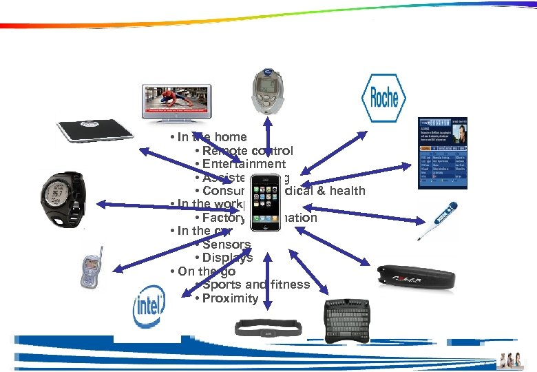 Why Bluetooth low energy? • In the home • Remote control • Entertainment •