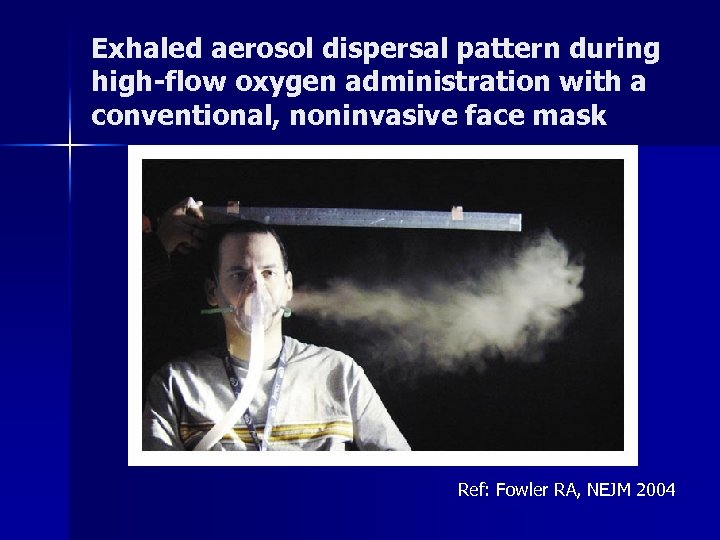 Exhaled aerosol dispersal pattern during high-flow oxygen administration with a conventional, noninvasive face mask