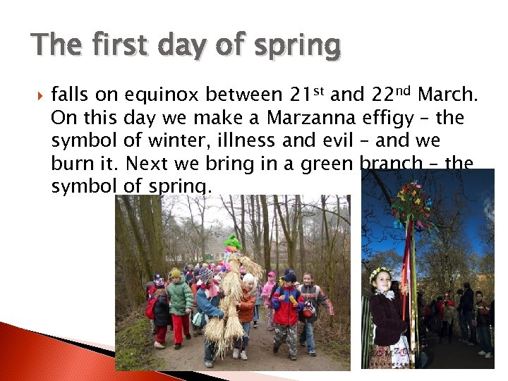 The first day of spring falls on equinox between 21 st and 22 nd