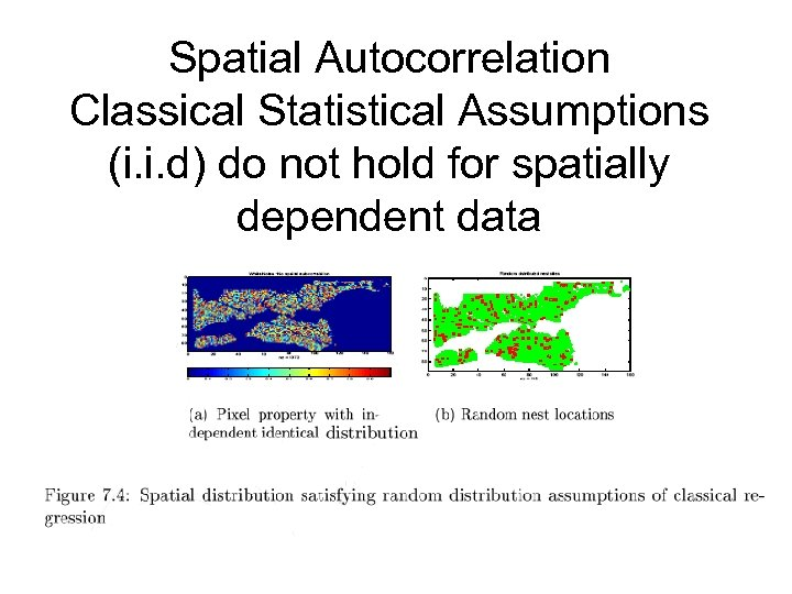Spatial Autocorrelation Classical Statistical Assumptions (i. i. d) do not hold for spatially dependent