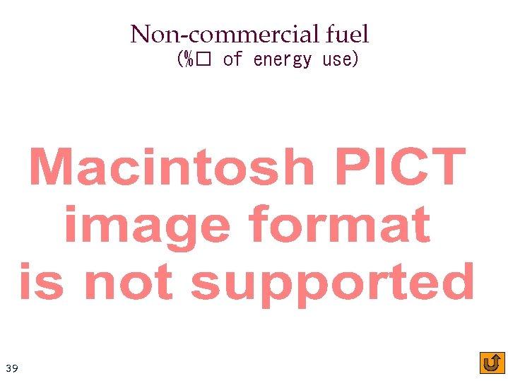 Non-commercial fuel (% of energy use) 39 CIS oƒ HDGC Carnegie Mellon