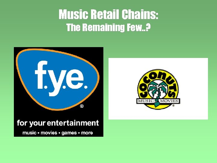 Music Retail Chains: The Remaining Few. . ?