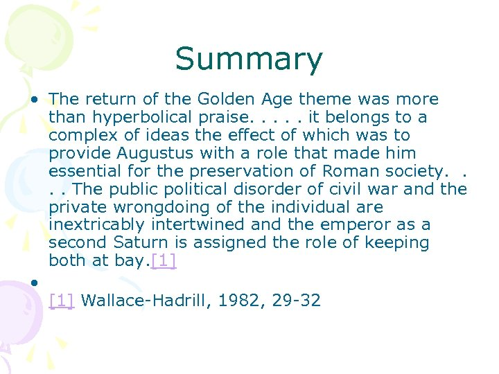 Summary • The return of the Golden Age theme was more than hyperbolical praise.