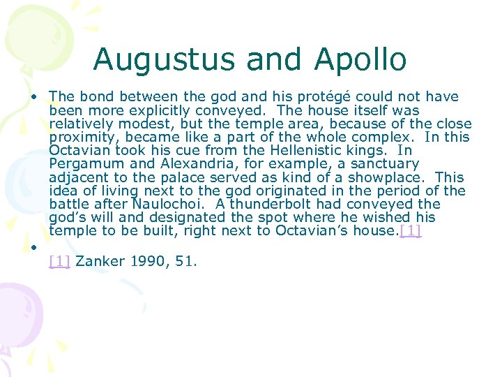 Augustus and Apollo • The bond between the god and his protégé could not