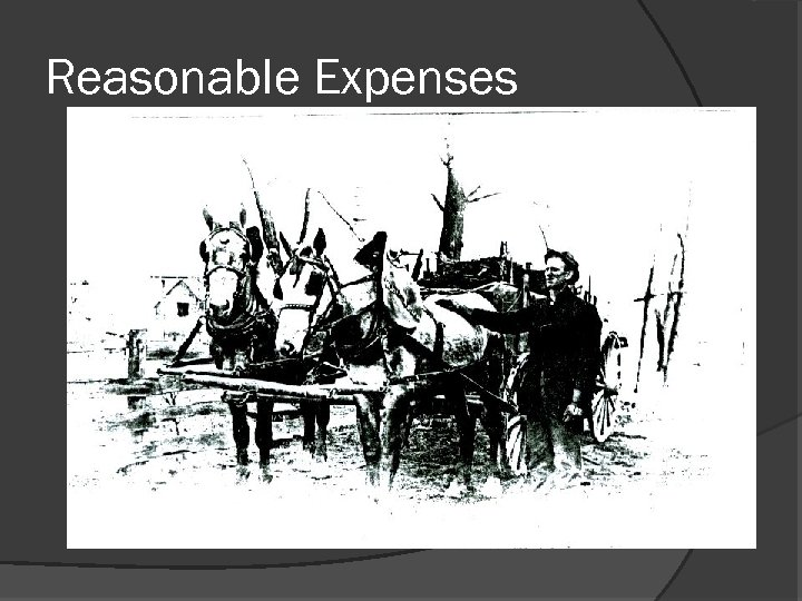 Reasonable Expenses