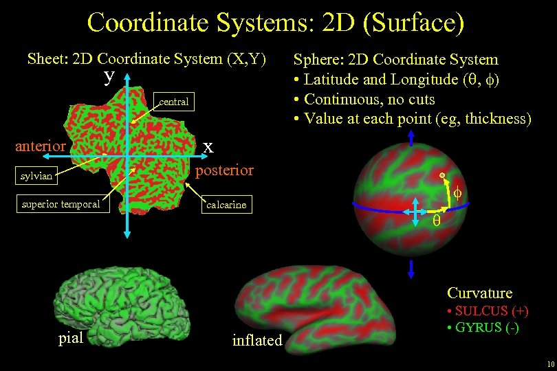 Coordinate Systems: 2 D (Surface) Sheet: 2 D Coordinate System (X, Y) y central