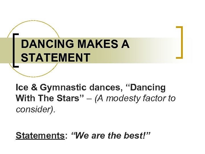 """DANCING MAKES A STATEMENT Ice & Gymnastic dances, """"Dancing With The Stars"""" – (A"""