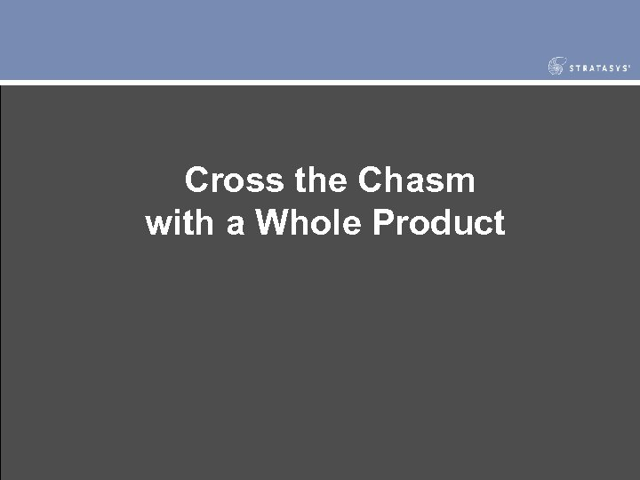 Cross the Chasm with a Whole Product