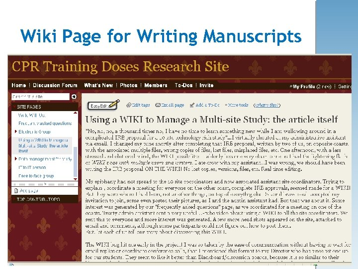 Wiki Page for Writing Manuscripts